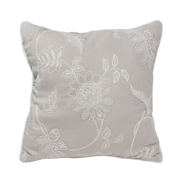 The Gray Barn Sleepy Hollow 18-inch Jacobean Embroidered Square Pillow