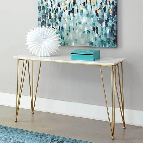 Outstanding Modern Design Marble And Brass Living Room Sofa Console Table Ibusinesslaw Wood Chair Design Ideas Ibusinesslaworg