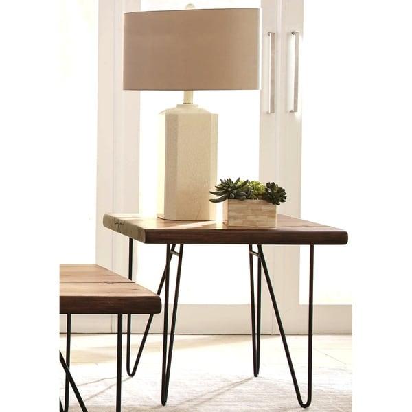 30 Live Edge Coffee Tables That Transform The Living Room: Shop Natural Live Edge Mahogany Living Room End Table