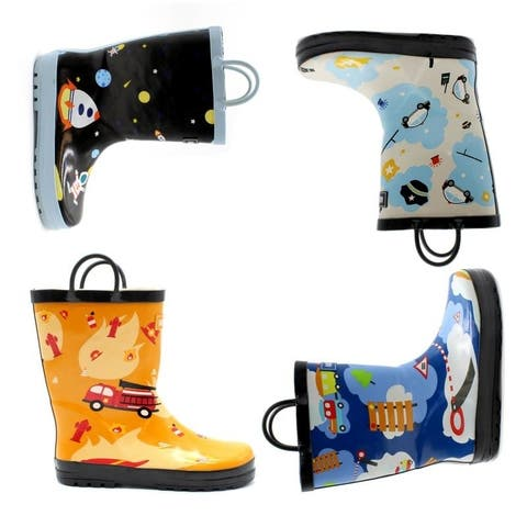 Mucky Wear Boys Waterproof Patterned Loop Boot