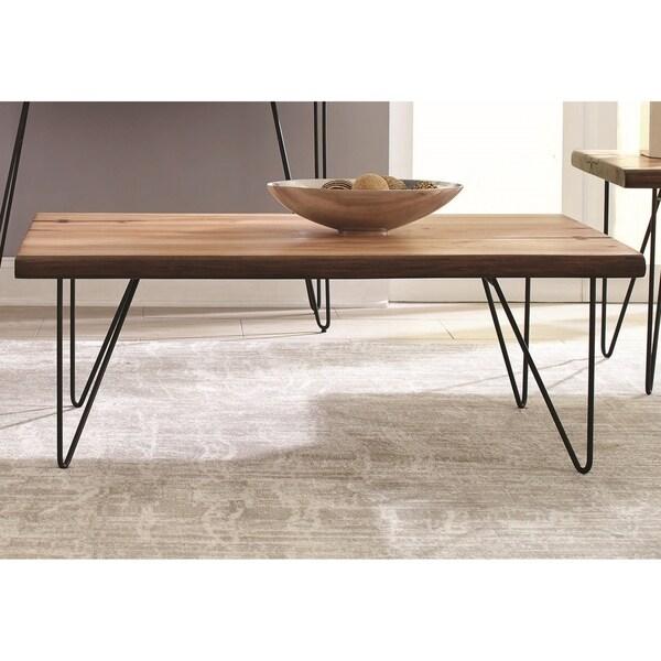 Natural Live Edge Mahogany Living Room Coffee Table
