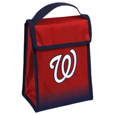 MLB Team Logo Gradient Insulated Velcro Lunch Bag - Washington Nationals