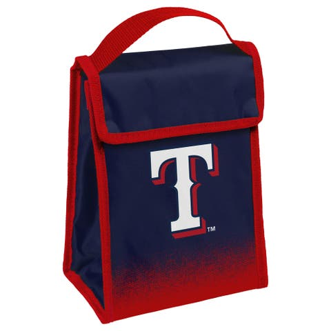 MLB Team Logo Gradient Insulated Velcro Lunch Bag - Texas Rangers