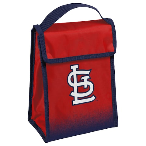 MLB Team Logo Gradient Insulated Velcro Lunch Bag - St. Louis Cardinals