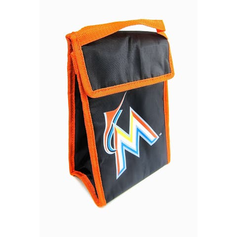 MLB Team Logo Gradient Insulated Velcro Lunch Bag - Miami Marlins