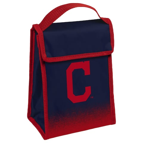 MLB Team Logo Gradient Insulated Velcro Lunch Bag - Cleveland Indians