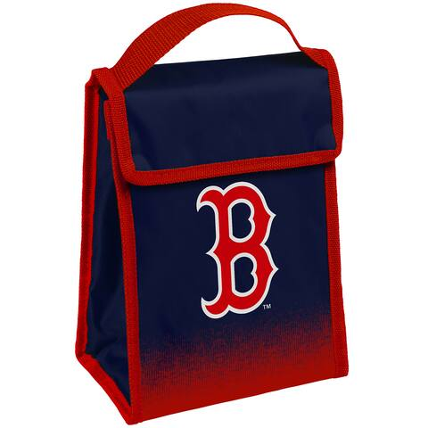 MLB Team Logo Gradient Insulated Velcro Lunch Bag - Boston Red Sox