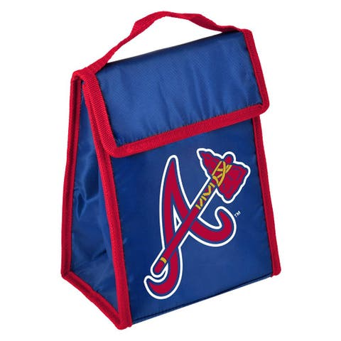 MLB Team Logo Gradient Insulated Velcro Lunch Bag - Atlanta Braves