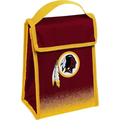NFL Team Logo Gradient Insulated Velcro Lunch Bag - Washington Redskins
