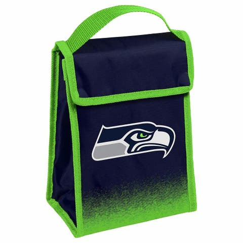 NFL Team Logo Gradient Insulated Velcro Lunch Bag - Seattle Seahawks