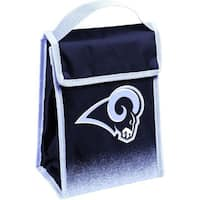 NFL Team Logo Gradient Insulated Velcro Lunch Bag - LA Rams