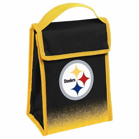 NFL Team Logo Gradient Insulated Velcro Lunch Bag - Pittsburgh Steelers