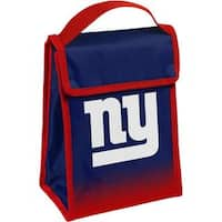 NFL Team Logo Gradient Insulated Velcro Lunch Bag - NY Giants