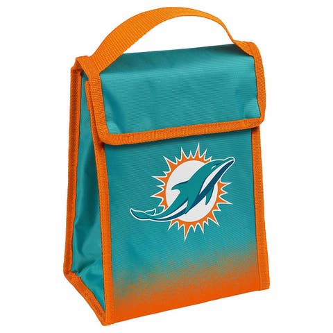 NFL Team Logo Gradient Insulated Velcro Lunch Bag - Miami Dolphins