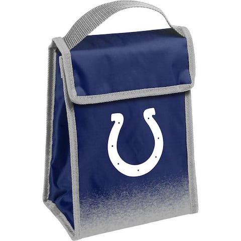 NFL Team Logo Gradient Insulated Velcro Lunch Bag - Idianapolis Colts