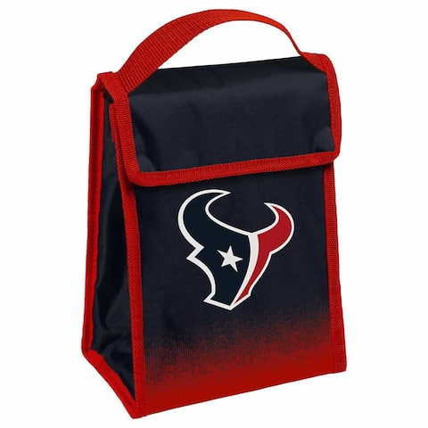 NFL Team Logo Gradient Insulated Velcro Lunch Bag - Houstan Texans