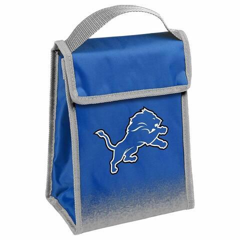 NFL Team Logo Gradient Insulated Velcro Lunch Bag - Detroit Lions