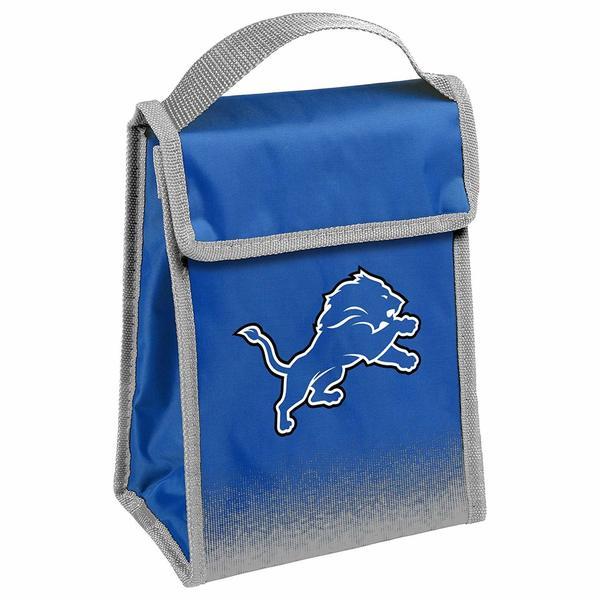 9456c590 NFL Team Logo Gradient Insulated Velcro Lunch Bag - Detroit Lions