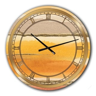 Designart 'Gilded Amber II' Glam Large Wall CLock