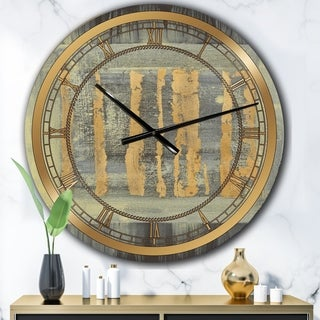 Designart 'Galm Abstract II' Glam Large Wall CLock