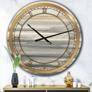 Designart 'watercolor colorfields II' Glam Large Wall CLock