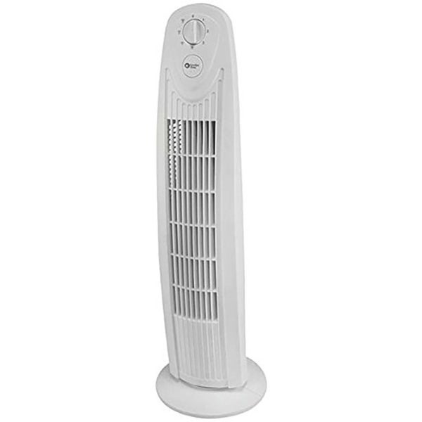 Comfort Zone CZTF329WT 29-inch 3-Speed Oscillating Tower Fan with Sturdy Base
