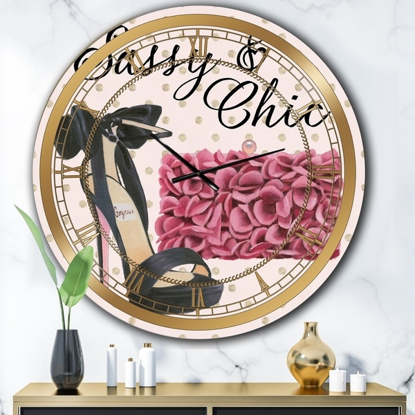 Designart 'Glam fashion High Heels II' Posh & Luxe Wall CLock