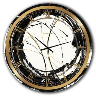 Designart 'Gold Metallic Circle' Modern Glam Wall CLock
