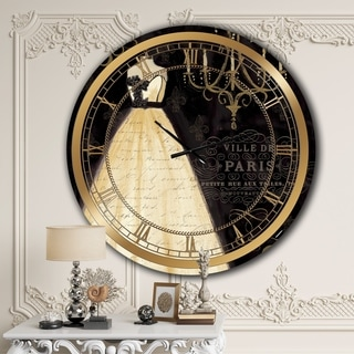 Designart 'French chandeliers Couture III' Glam Wall CLock