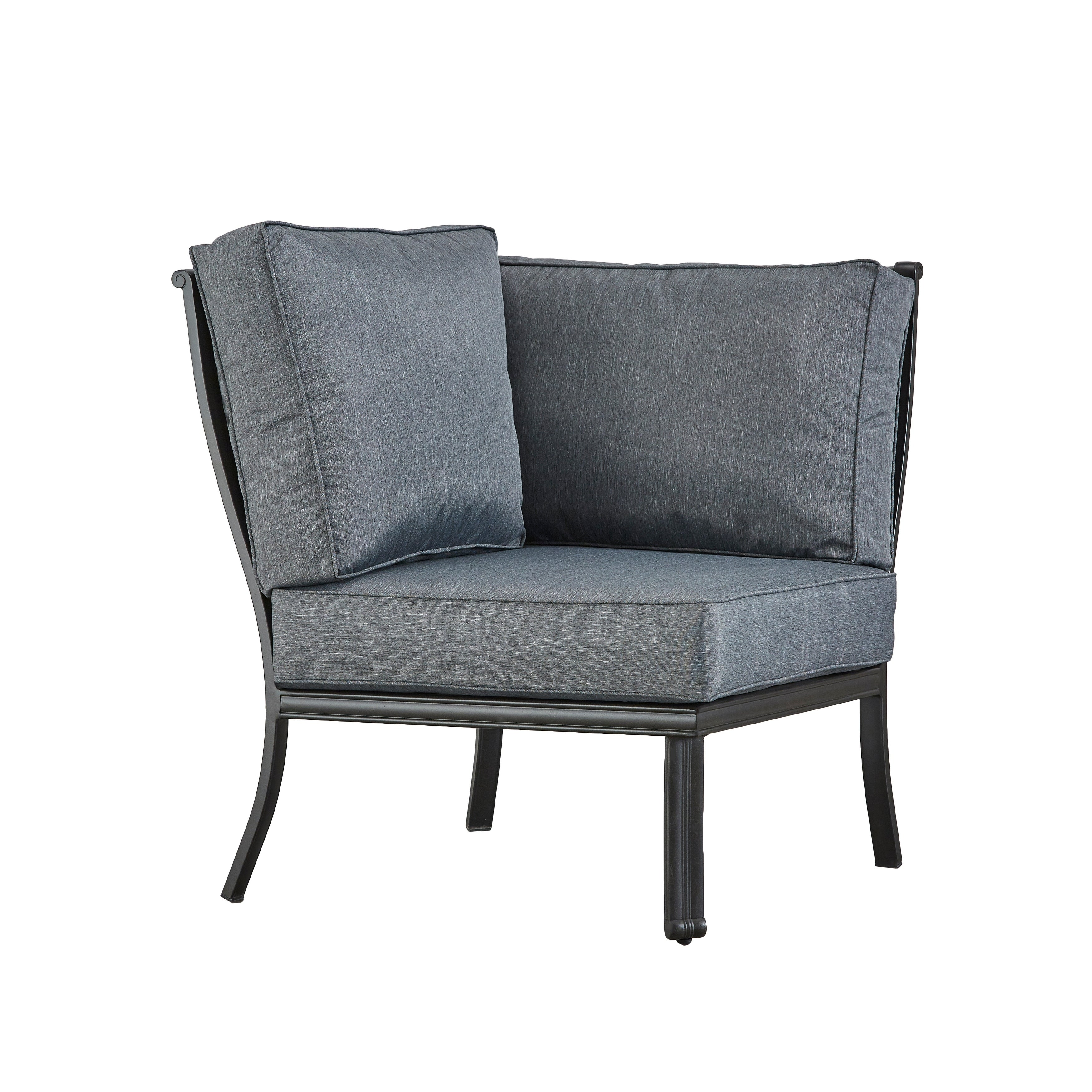 Shop Black Friday Deals On Mont Joli Metal Outdoor Modern Cushioned Sectional Corner Chair By Havenside Home On Sale Overstock 27807584