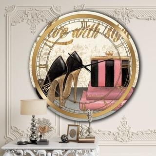Designart 'Gold Fabulous Life Style II' Glam Wall CLock