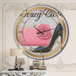 Designart 'Glam fashion High Heels I' Glam Large Wall CLock