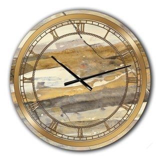 Designart 'Fire and Ice Minerals V' Glam Large Wall CLock
