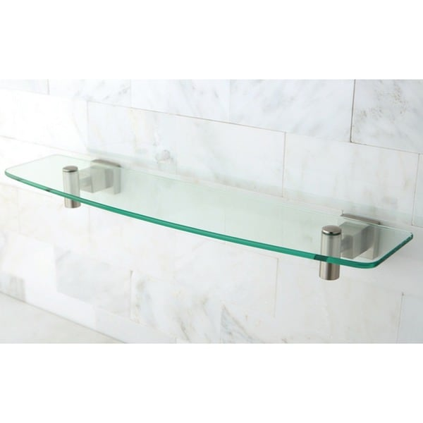 Claremont Glass Satin Nickel Shelf