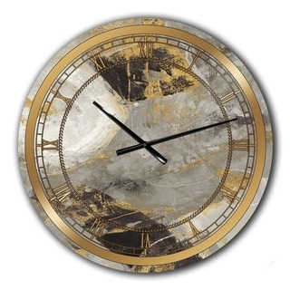 Designart 'Glam Gold Desert Neutral' Glam Large Wall CLock