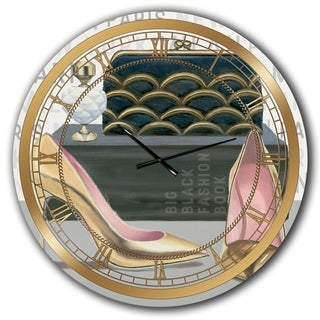 Designart 'Glam fashion High Heels IV' Posh & Luxe Wall CLock