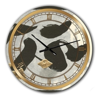 Designart 'Glam Collage I' Glam Large Wall CLock