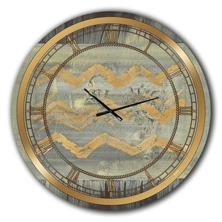 Designart 'Galm Abstract I' Glam Large Wall CLock