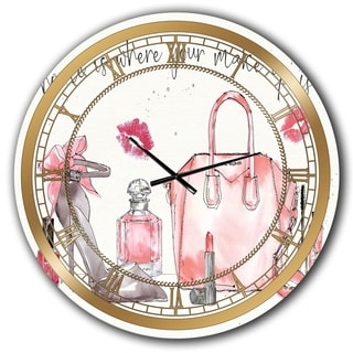 Designart 'Chic Accents I' Glam Wall CLock