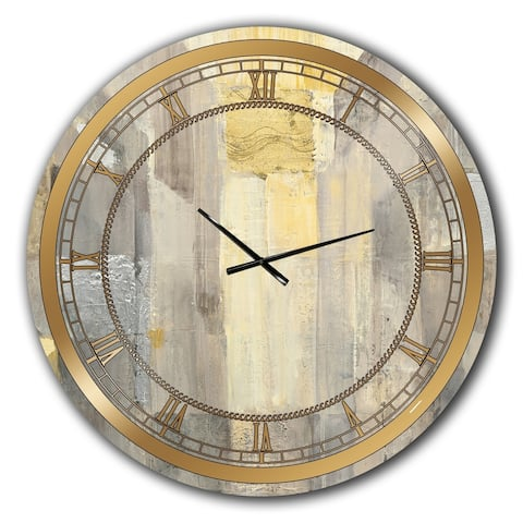 Silver Orchid Borella 'Gold Square Watercolor' Glam Large Wall Clock