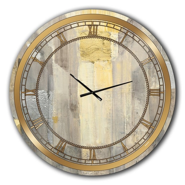 Silver Orchid Borella 'Gold Square Watercolor' Glam Large Wall Clock. Opens flyout.