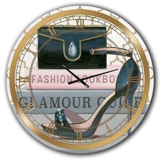 Designart 'Glam fashion High Heels VI' Posh & Luxe Wall CLock