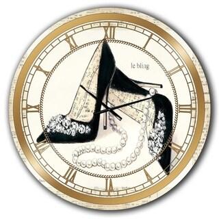 Silver Orchid Borella 'Chic Galm Closet I' Glam Large Wall Clock