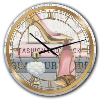 Designart 'Glam fashion High Heels III' Posh & Luxe Large Wall CLock