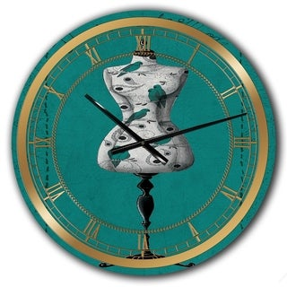Designart 'French Couture IV' Glam Large Wall CLock