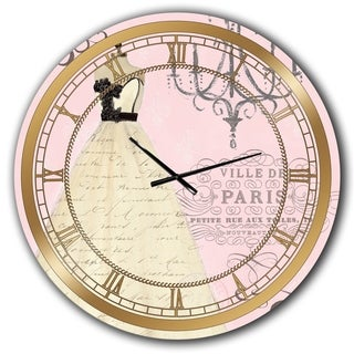 Designart 'French chandeliers Couture II' Glam Large Wall CLock