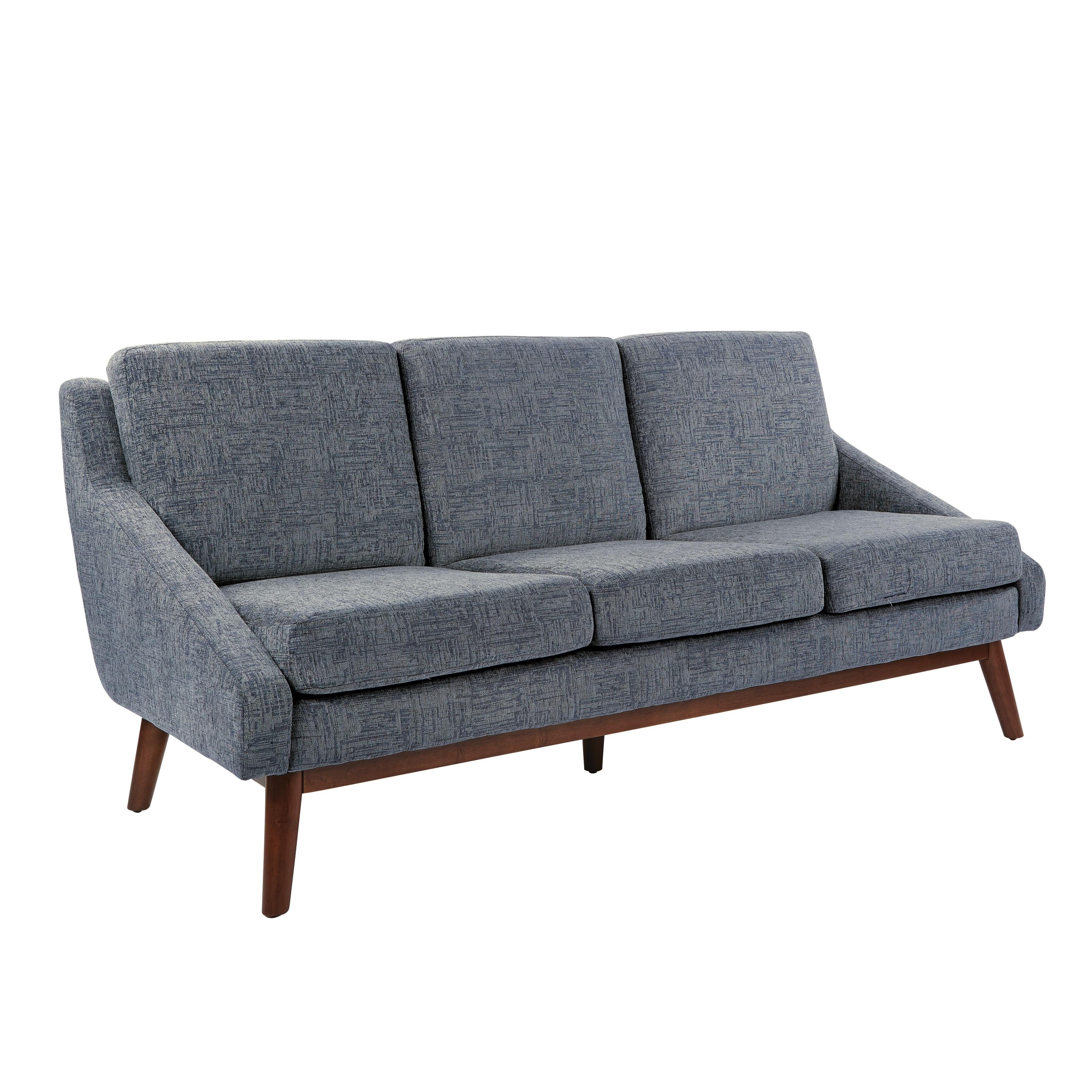 OSP Home Furnishings Davenport Blue/Green/Grey Wood/Fabric Sofa