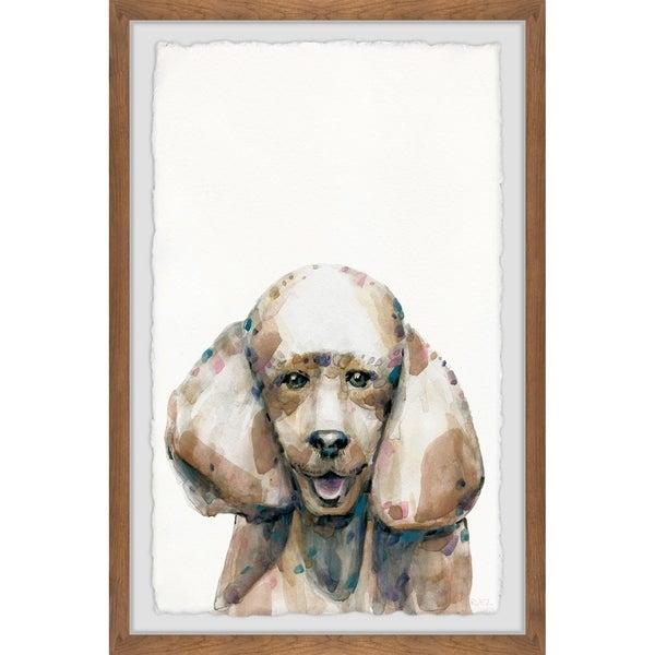 Handmade Happy Poodle Framed Print