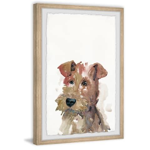 Handmade Cute Brown Dog Framed Print