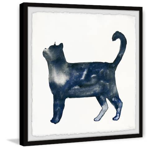 Handmade Snobby Cat Framed Print